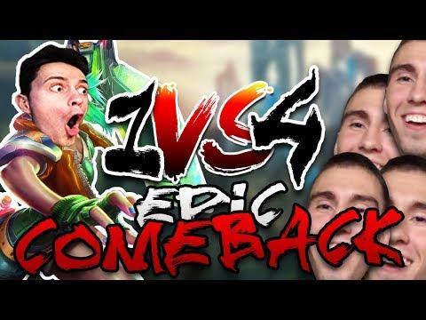 EPIC COMEBACK! - 1v4 lolko proti rodině