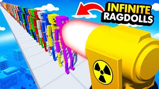 NEW How Many RAGDOLLS Can NUCLEAR CANNON Destroy? (Fun With Ragdolls The Game Funny Gameplay)