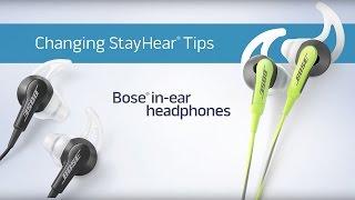 How change stayhear tips bose ear headphones