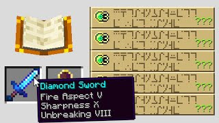 Minecraft UHC but every enchant is random..