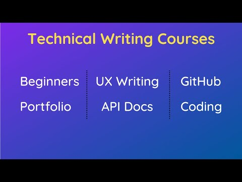 Technical Writing Course Recommendations