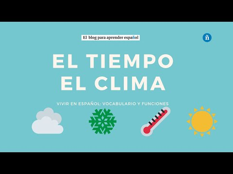 El Tiempo Y El Clima Aprendamosfacil