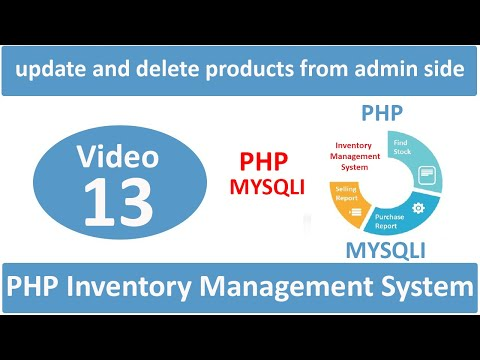 how to update and delete products from admin side in php ims