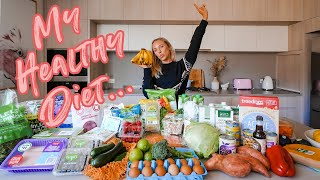 What I eat in a week | Healthy grocery haul (and how much we spent $$)