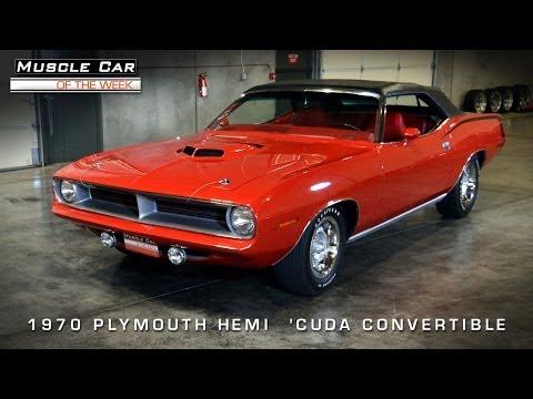 1970 Plymouth 426 Hemi 'Cuda Muscle Car