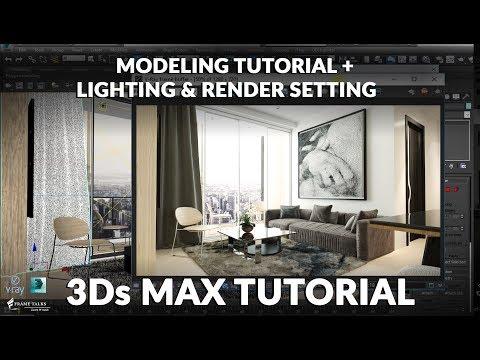 3Ds MAX – Living Room Modeling Tutorial
