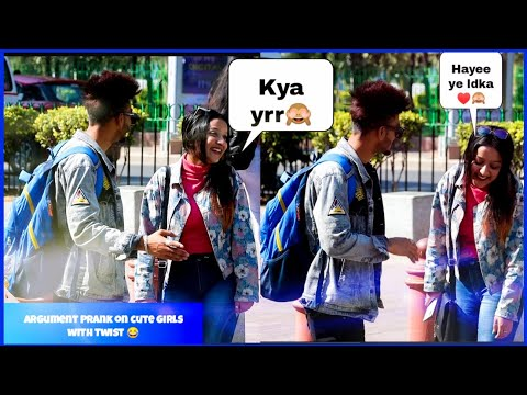 Argument with Cute Girls Prank with Twist || photo click kr do || *Epic Reaction*