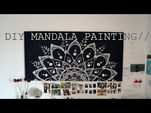 RE-UPLOAD// DIY Spring Room Decor Mandala Painting//