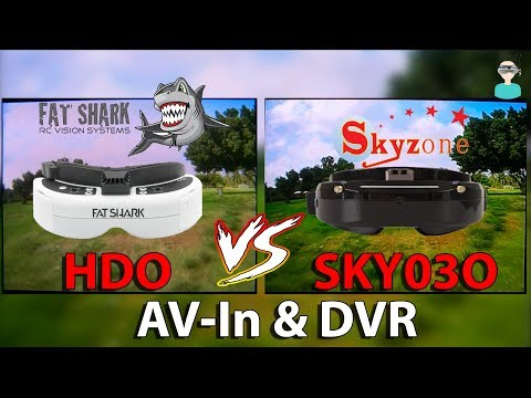 Skyzone SKY03O Vs. Fatshark HDO - Screen & DVR AV-In Comparison