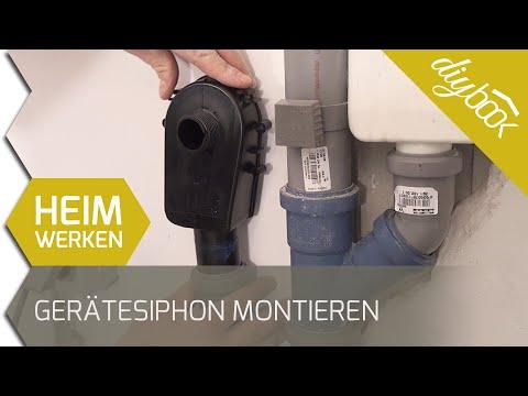 Geräte-Siphon montieren