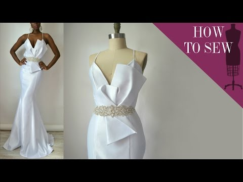 How To Sew A Satin Open Back Mermaid Style Wedding Gown Mp3