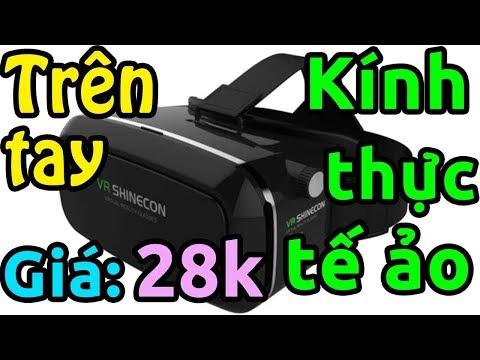 Trên tay kính thực tế ảo giá 28k (áp mã giảm giá Lazada)