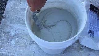 Concrete Countertop - Mixing the White Countertop
