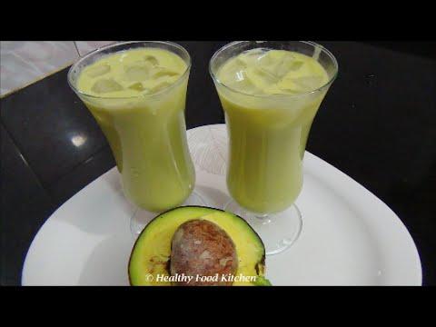 Video Avocado Milkshake Recipe-Butter Fruit Milkshake Recipe By Healthy Food Kitchen
