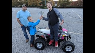 Going To Get Her A 4 Wheeler For Christmas. Awesome Surprise!