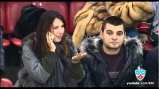 Мыскина на матче ЦСКА / Myskina at CSKA-Ak Bars game