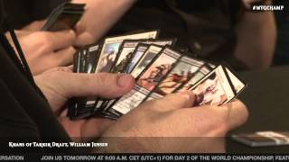 World Championship 2014: Drafting Khans of Tarkir with William Jensen