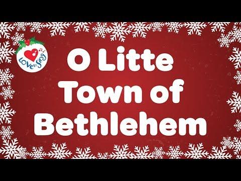 O Little Town of Bethlehem with Lyrics | Christmas Carol & Song