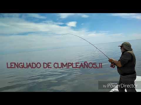 Eddy Sottile pescando un lenguado en su cumpleaños