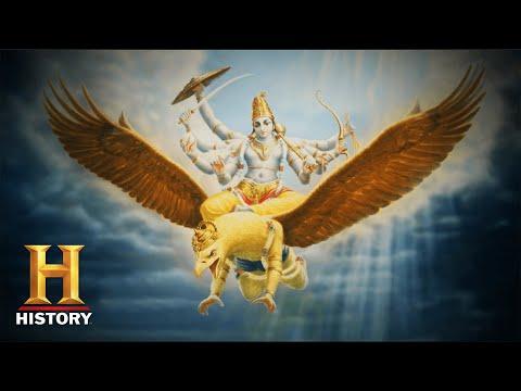 Indiase goden dalen uit de lucht