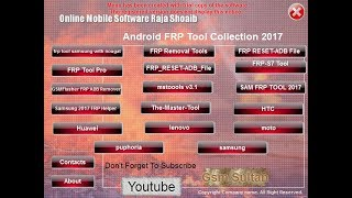 All In One Frp Tool Pack | All latest FRP Unlock Tools 2017