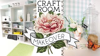 CRAFT ROOM TOUR | DOLLAR TREE ORGANIZATION | Craft Room Mini Makeover ON A BUDGET!