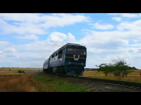 ТЭП70-0110 с региональным поездом Бердянск - Запорожье на перегоне Бердянск - Берда