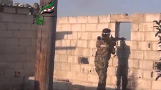 preview picture of video 'مدينة #نوى استهداف دبابة في قرية الشيخ سعد من قبل كتيبة الشهيد لؤي البصيري 12 09 2013'