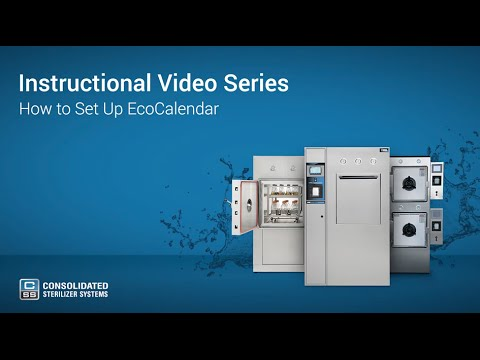 How To Set Up The EcoCalendar on Your Autoclave