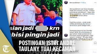 Unggah Tulisan Bernada Hina Prabowo, Istri Andre Taulany Dapat Kecaman