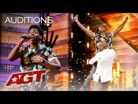 Golden Buzzer: Joseph Allen Leaves Exciting Footprint With Original Song - America's Got Talent 2019 (видео)