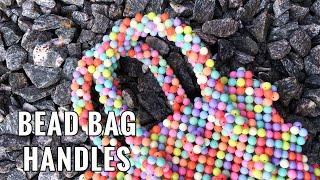 SHRIMPS ANTONIO BEADED BAG HANDLES PT 3 // HOW TO MAKE A PEARL BEAD BAG  || BYWINNIE
