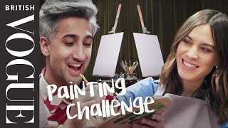 Alexa Chung Vs Tan France: The Painting Challenge | British Vogue