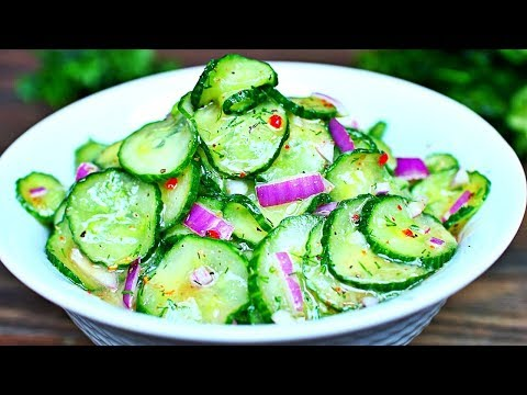 Fresh Cucumber Salad Recipe - How to make Cucumber Salad