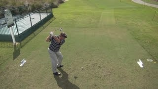 GOLF SWING 2013 - STEVE LOWERY DRIVER - ELEVATED DOWN THE LINE & SLOW MOTION - HQ 1080p HD