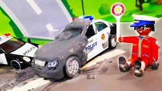Мультик про полицейские машинки. Видео для детей с игрушками - Полицейская погоня. Мультфильмы 2018