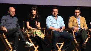 """Discussing """"The Kiss"""" - NEW GIRL Panel w/ Zooey Deschanel and Jake Johnson"""