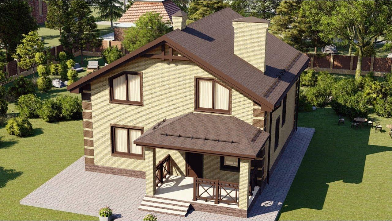 Проект дома с мансардным этажом и удачной планировкой