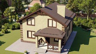 Проект дома 175-B, Площадь дома: 175 м2, Размер дома:  10,4x11,5 м