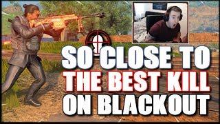 I HIT MARKERED THE BEST KILL ON BLACKOUT :( COD BLACKOUT SOLO WIN!