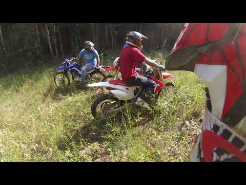 DR 650 vs CRF 450 jump