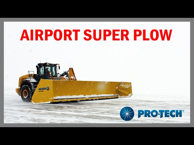 Snow Plow for Airports, Hospitals, Distribution Centers - Pro-Tech Super Duty Sno Pusher
