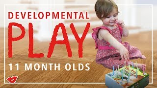 Developmental Play For 11-Month-Olds! | Kristen from Millennial Moms