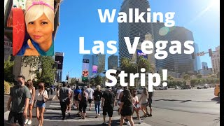 LAS VEGAS STRIP| August 2020| Afternoon Walk | Vegas Star Shining