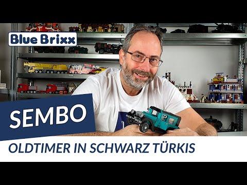 Oldtimer schwarz/türkis