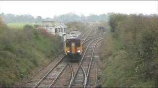 preview picture of video 'Class 156 Chippenham Jct Newmarket Nov 08'