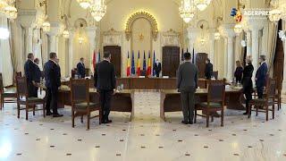 Preşedintele Iohannis - întâlnire cu premierul Cîţu şi miniştrii propuşi de PNL