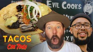 Bert Kreischer Cracks Up While Eating His Favorite Tacos | Tacos Con Todo