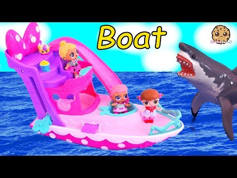 Boat Ride Lol Surprise Baby Dolls See Ocean Shark Play Toy Video
