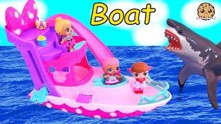 Boat Ride !  Lol Surprise Baby Dolls See Ocean Shark Play Toy Video Cookie Swirl C